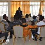 CRRECENT's Staff and mentors in Counselling session with the young men in the reintegration programme after release.